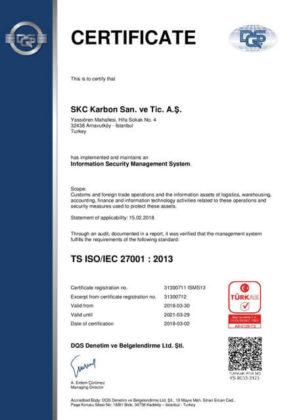 Kardeş Elektrik, ISO 27001