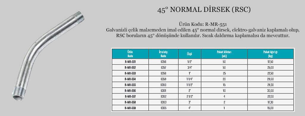 45-derecelik-normal-rsc-dirsek-teknik-ozellikler