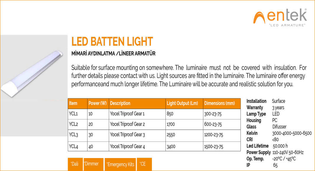led-batten-light-lineer-led-armatur