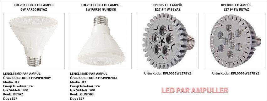 led-par-ampul-cesitleri-ozellikler-tablosu