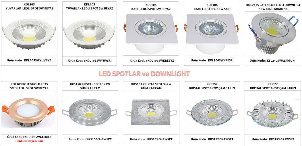 led-spot-malzemeler-gorselleri