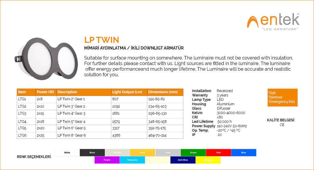 lp-twin-ikili-downlight-led-armatur