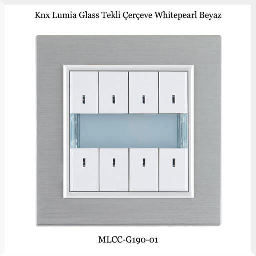 knx-lumia-glass-tekli-cerceve-whitepearl-beyaz
