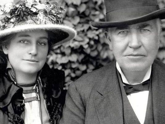Edison ve Eşi Mina Edison