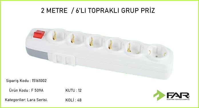 2-Metre-6li-Toprakli-Grup-Priz