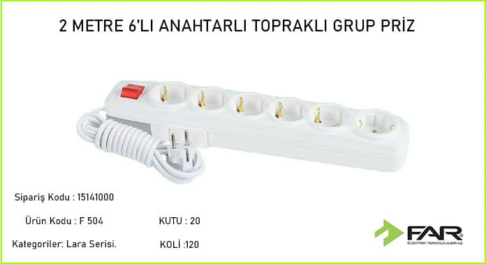 2-Metre-altili-Toprakli-Grup-Priz