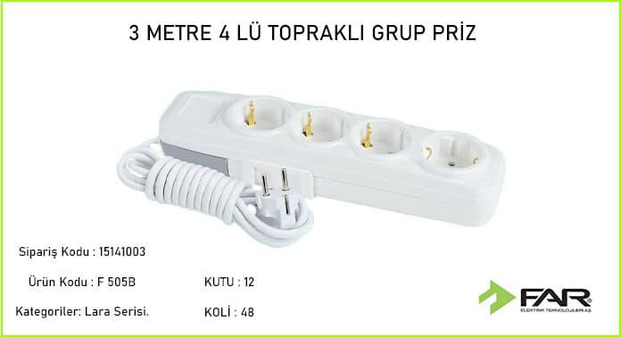 3-Metre-4lu-Toprakli-Grup-Priz