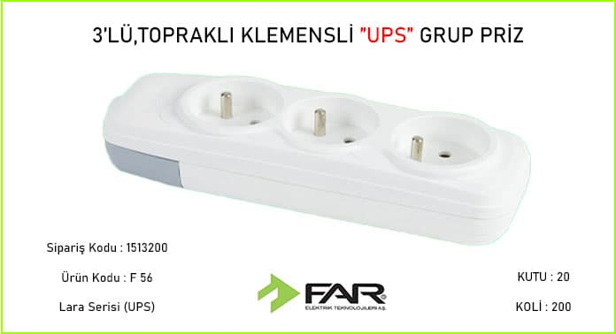 3lu-Ups-Klemensli-Toprakli-Grup-Priz