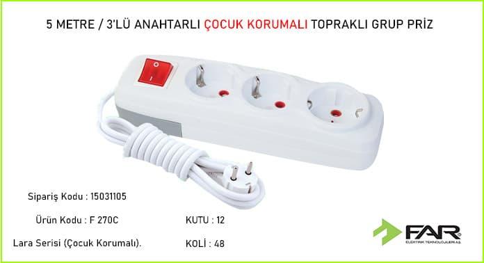 5-Metre-3lu-Anahtarli-Cocuk-Korumali-Toprakli-Grup-Priz