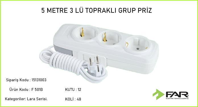 5-Metre-3lu-Toprakli-Grup-Priz