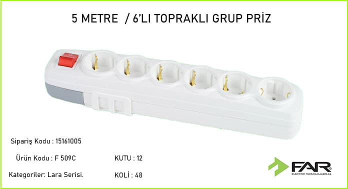 5-Metre-6li-Toprakli-Grup-Priz