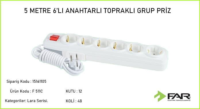 5-Metre-altili-Anahtarli-Toprakli-Grup-Priz