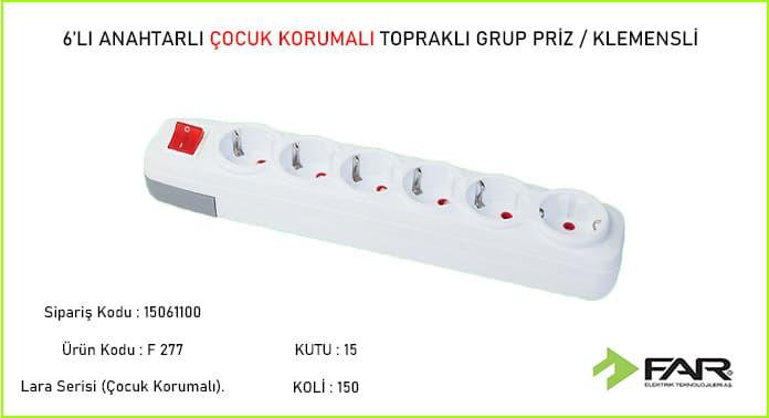 Altili-Anahtarli-Klemensli--Cocuk-Korumali-Toprakli-Grup-Priz