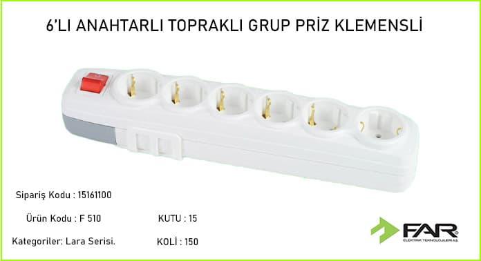 Altili-Anahtarli-Toprakli-Klemensli-Grup-Priz