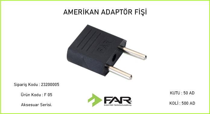 Amerikan-Tipi-Adaptor-Fisi