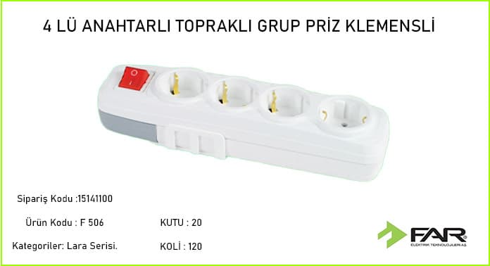 Dortlu-Anahtarli-Toprakli-Grup-Priz