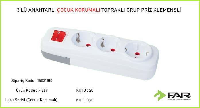 Klemensli-3lu-Anahtarli-Cocuk-Korumali-Toprakli-Grup-Priz