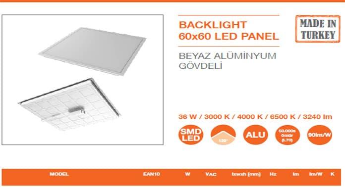 Ledvance Beyaz Aluminyum Govdeli Yerli Led Panel