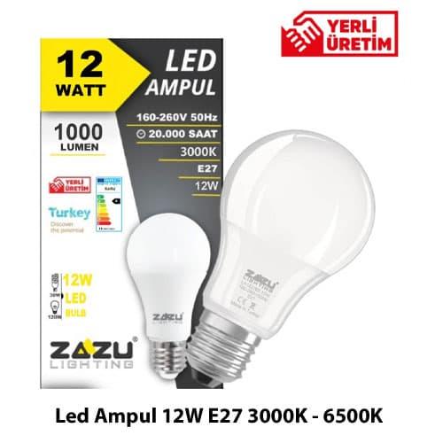 Led-Ampul-12W-E27-3000K-6500K