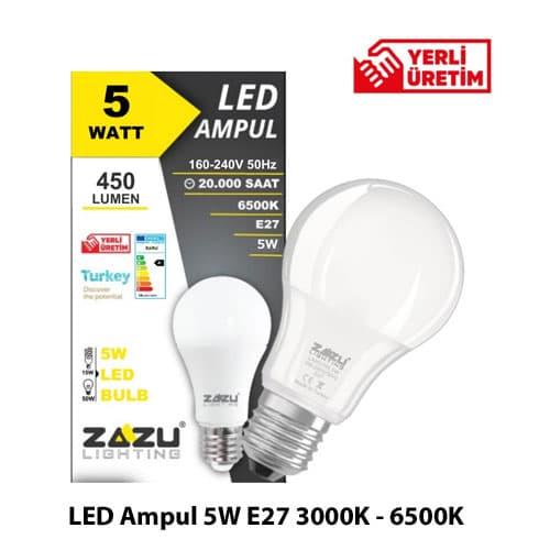 Led-Ampul-5W-E27-3000K-6500K